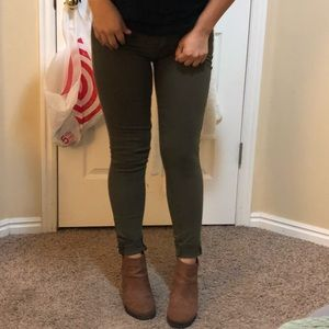 Lucky brand olive green jeans